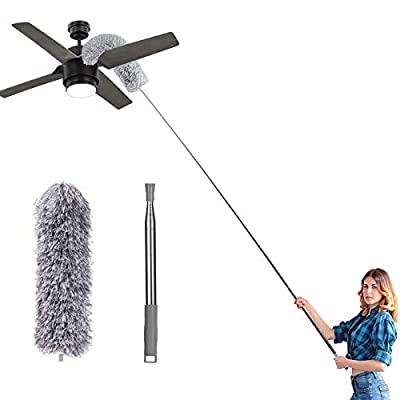 Amazon - 50% Off on Microfiber Feather Duster, Extendable Cobweb Duster with 100 inches Extension Pole