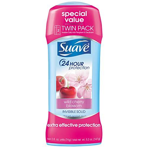 Suave Antiperspirant Deodorant, Wild Cherry Blossom 2.6 oz, Twin Pack