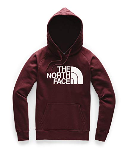The North Face Women's Half Dome Pullover Hoodie, Deep Garnet Red/TNF White, L