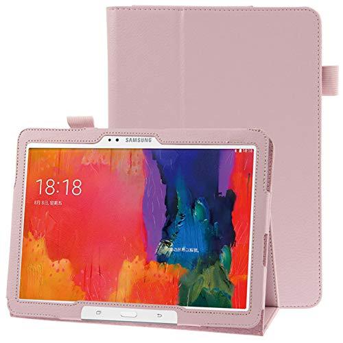 Caja Protectora de la Tableta Funda de Cuero con Textura con Soporte for Galaxy Tab Pro 10.1 / T520 (Azul) (Color : Pink)
