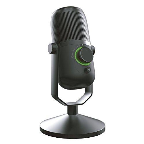 Woxter Mic Studio 100 Pro - Micrófono de condensación (Cardioide y Omni-direccional) con trípode Ajustable y tecnología Vertigain®, Negro …