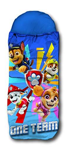 SkyBrands Kinder Schlafsack Paw Patrol Kinderschlafsack Winterschlafsack Reisedecke 70x140 mit Rucksack Hülle praktisch ÖKO TEX Zertifiziert
