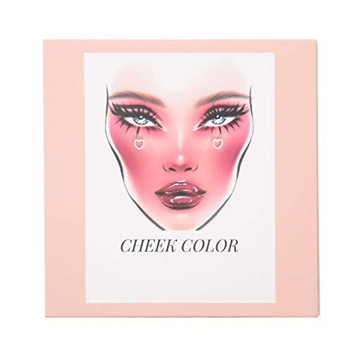 Paletas de maquillaje de cara de ajuste, sombra de ojos en polvo cara piel cara rostro contorno