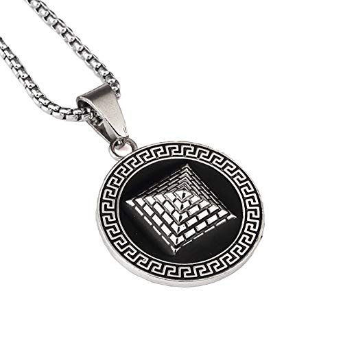 YABEME 18k Gold Silber überzogene Herren Hip Hop ägyptische Pyramide Halskette mit 30