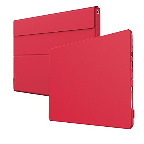 Incipio Microsoft Surface Pro 4 Case, Folio Case Hard Shell Faraday Advanced Case for Microsoft Surface Pro 4-Red