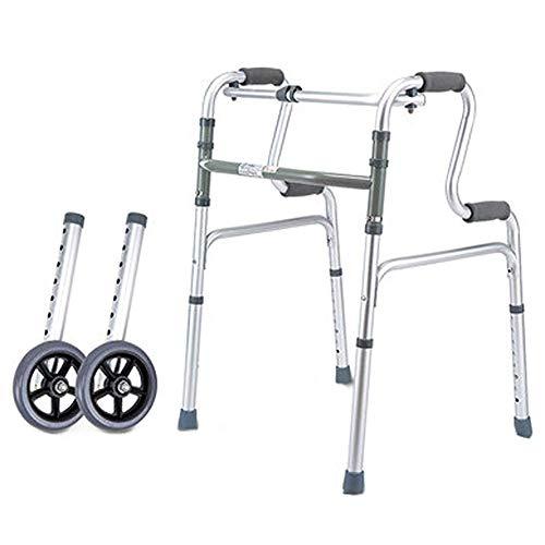 XCY Gehhilfe Medical Instruments Einfache Folding Aluminiumstruktur Gehen Walker, Tragen 2 Casters Hilfs Walker,B