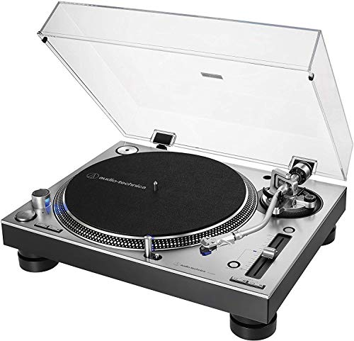 Audio-Technica AT-LP140XP Professionelle Plattenspieler mit Direktantrieb, Silber