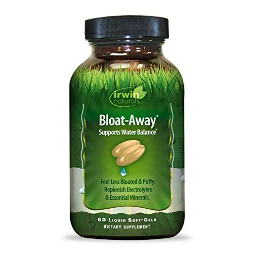 Irwin Naturals Bloat-Away - Water Balance Support - Replenish Electrolytes & Essential Minerals - 60 Liquid Softgels