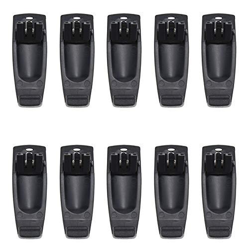 Set di 10 Walkie Talkie Clip da Cintura per Kenwood KNB-63L KNB-65L Batteria per Puxing PX-328 PX-777 PX-888K PX728 Plus Radio LINTON LT-3188 LT-2188 LT-2268 LT-3268 LT-3260 EIERWEI VEV-3288S