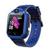 Kids Waterproof Smart Watch Phone, GPS\/LBS Tracker Smart Watch for Kids for 3-12 Year Old Compatible iOS Android Smart Watch Christmas Birthday Gifts for Kids(Excluding SIM Card)