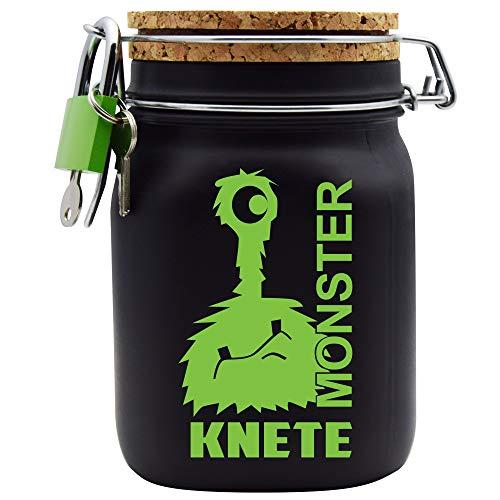 Spardose Monster Knete Grün Geld Geschenk Idee Schwarz L