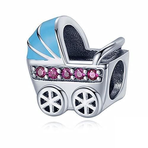 yuge 925 plata esterlina bebé carro conjunto molino de viento ferris rueda perlas adecuado para la pulsera original colgante joyería regalo A1380