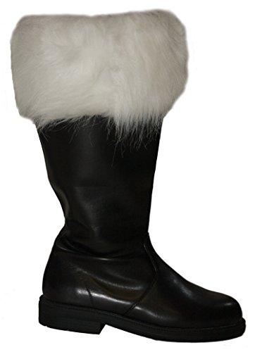 Planetsanta Wide Top Santa Claus Boots Black, Large