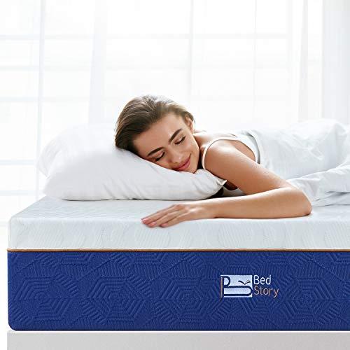 BedStory Materasso in Schiuma viscoelastica, Materasso Memory Foam, con Essenza di Lavanda | 22 cm di Spessore | Estremamente Durevole | Certificato CertiPUR-US| Certificazione ISO 9001-80 x 190 cm