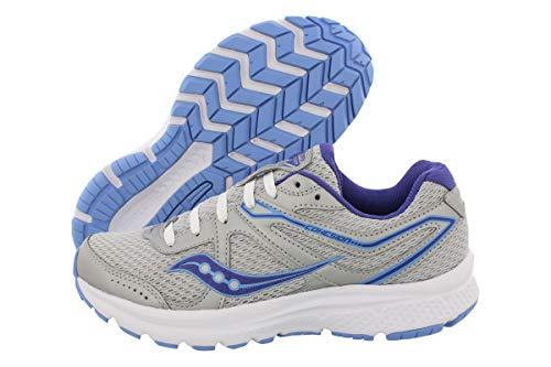 Saucony Women's Cohesion 11 Grey/Purple Running Shoe 9 W US