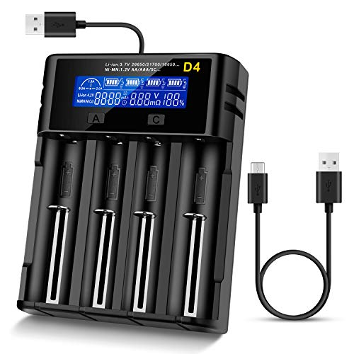 Unzano LCD Display Universal battery charger