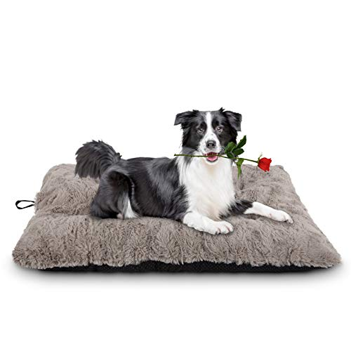 JOEJOY Dog Bed Crate Pad, Anti Slip Cat Pads Pet Mattress Tufted Kennel Sleeping Mat 24/30/36/42 Inch Washable for Large Medium Small Dogs and Cats (40''x27'')
