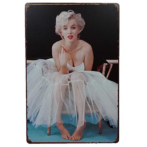 Generic Blechschilder_Marilyn Monroe (Motiv 3)_Klassik Retro Blechschilder Vintage Dekoration_Motiv Hollywood, Kino, Film, Stars, VIP & Ikonen_Blechschilder Sprüche & Zitate Metallschild