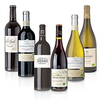 FEINSTE-WEINE-Weinpaket-Sued-Frankreich-6-x-075-l-Probierpaket-mit-trockenem-Weisswein-und-Rotwein-von-franzoesischen-Winzern