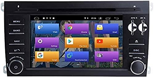 GPS para Porsche Cayenne 2003-2010 Android 10.0 Doble DIN 7' Reproductores de DVD Multimedia Radio Auto estéreo de automóvil de reproducción automática de navegación por satélite