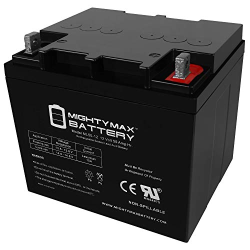 Mighty Max Battery 12V 50AH Replacement Battery Compatible with Minn Kota Trolling Motors Brand Product