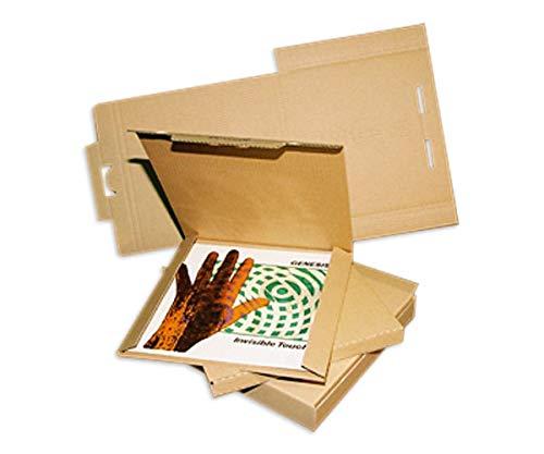 25 LP Versandkartons fuer 1-3 LPs Vinyl Versandkarton Postkartons (L/B/H) 322 x 322 x 10 mm