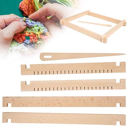 Fournyaa Strickmaschine, Webmaschine, einfach zu verwendender DIY-Schal für Kinder Lernspielzeug Strickzubehör Anfänger