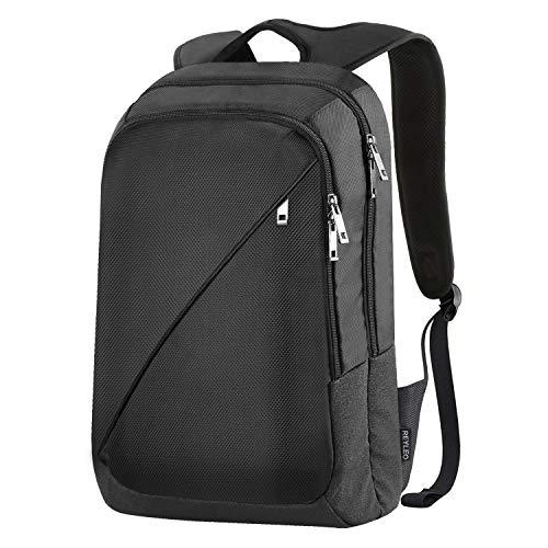 reyleo Rucksack Business Laptop Rucksäcke Herren Frauen Schule Tasche wasserabweisend Rucksack für College Arbeit Reisen (schwarz)