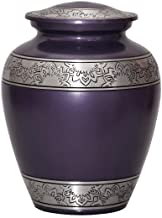 World Bazaar Love Cremation Urn for Human Ashes - Funeral Urn - Adult Funeral Urn Handcrafted with Silver Engraved - Metal...