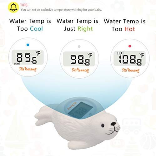 Doli Yearning Baby Bath Thermometer Room Temperature| Water Thermometer|Kids' Bathroom Safety Products| Baby Bath(Seal Shape)℃/℉