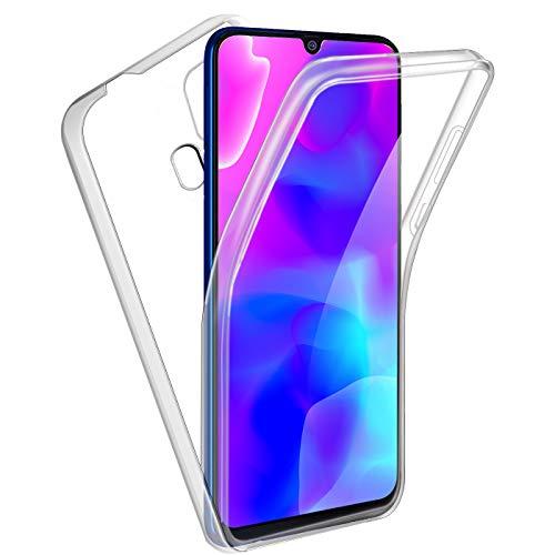 Reshias Funda para Samsung Galaxy M31,360°Full Body Protección [Suave TPU Silicona Delantero] [PC Dura Atrás] Transparente Flip Protectora Carcasa para Samsung Galaxy M31 (6,4 Pouces)