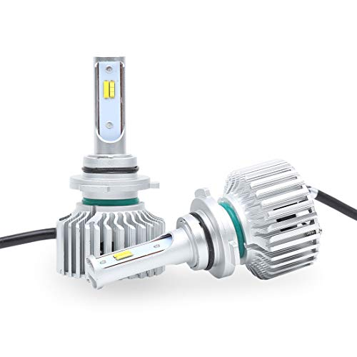 Kit de phares S6 LED H8/9/11, loin et près halogènes de remplacement aluminium léger 12 24V lumière de 5800ML, blanc, 1 pièce