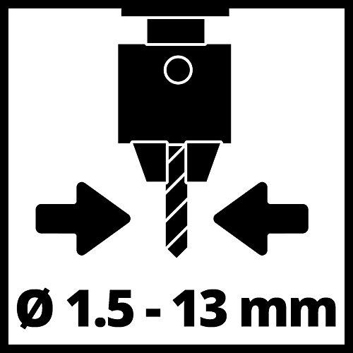 Einhell Perceuse à colonne TC-BD 350 (350 W, Inclinaison de la table de perçage : -45° à +45° , Hauteur de la table réglable en continu, Ecran de protection rabattable,5 plages de vitesse)