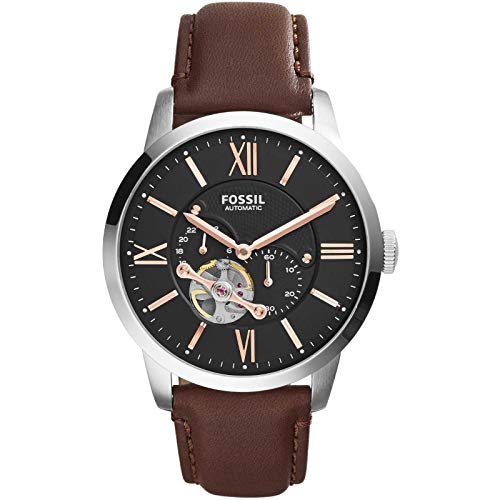 Fossil Herren Automatik Uhr mit Leder Armband ME3061