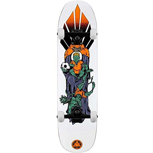 Welcome Futbol on Son of Moontrimmer - Skateboard completo, 21 cm, colore: Bianco