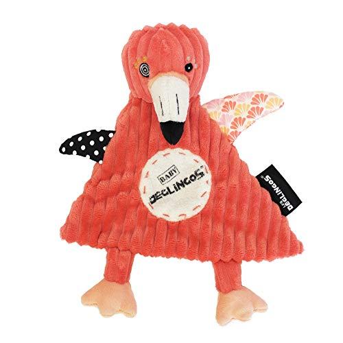 Les Déglingos - Flamingos le Flamant Rose - Doudou pour bebe et enfant  - Tissu Doux - Peluche - Ludique - Jouet éducatif - Convient de la naissance