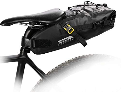 Rhinowalk Borsa della Sella per Bicicletta Impermeabile Borsa Sottosella con Tasca Borsa Bicicletta da Sella per Ciclismo/MTB/Bici (Nero-5L)