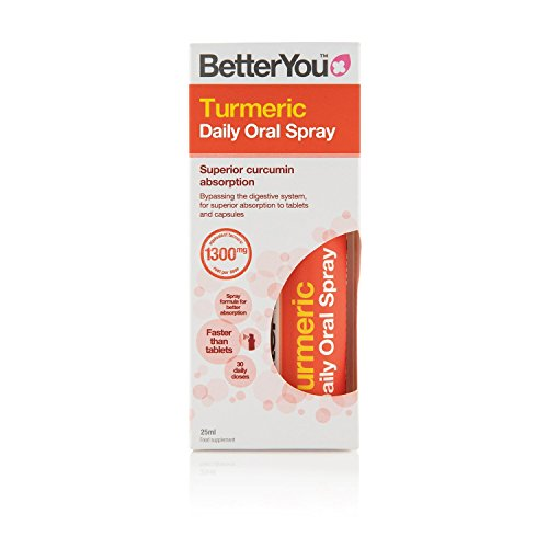 Better You Turmeric Daily Oral Spray 25ml (Pack of 2)