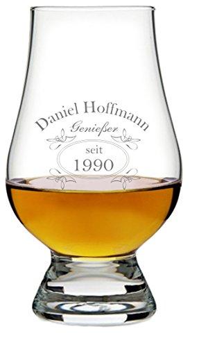 EIN Original The Glencairn Glass, Glas mit Whiskey Design inkl. Wunschgravur Gravur Wunschtext