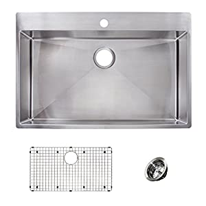 Franke HFS3322-1KIT Vector Dual Mount Single Bowl Kitchen Sink