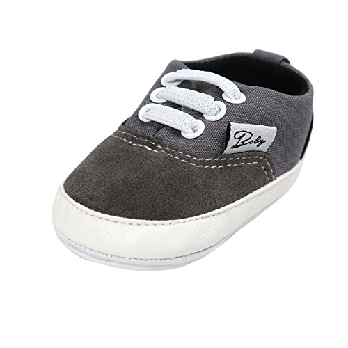 Grey Canvas Shoes for Baby Boy