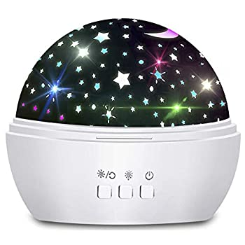 Star Night Light Projector Birthday Gifts for 1-10 Years Old Girls Boys Multi Colors Rotating Light Baby Projection Lamp for Bedroom Ceiling Stars Glow in The Dark