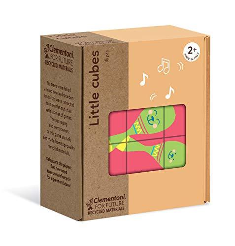 Clementoni- Little Objets-Puzzle de Cube 6 pièces-matériaux 100% recyclés-fabriqué en Italie, 2 Ans et Plus, 16229, Multicolore