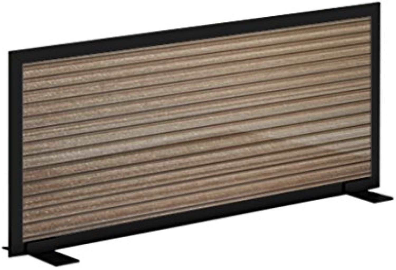 (Smoke, Black, 12 h X 24 w) - Obex 12X24P-B-S-FS Polycarbonate Free Standing Privacy Screen, Smoke, 30cm H X 60cm W