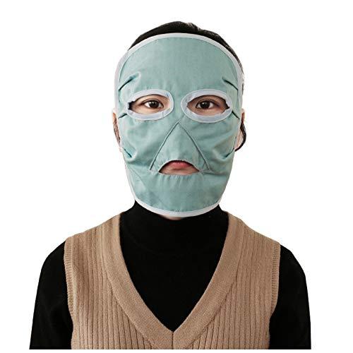 DUAN Máscara de protección contra radiación electromagnética Fibra de Metal Anti acné Protección de radiación Teléfono, computadora, TV, blindaje WiFi EMF,Azul