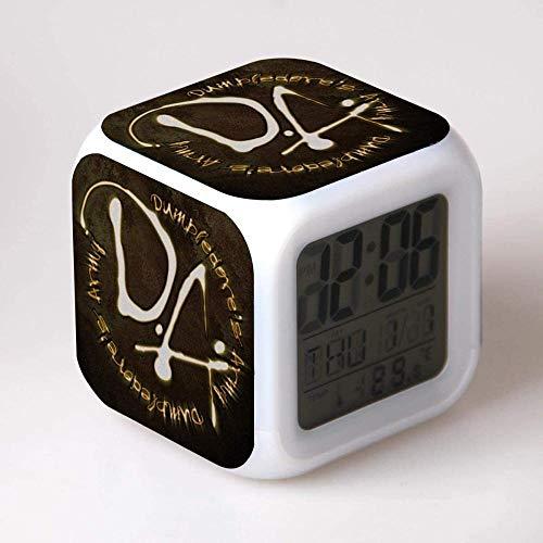 FCH-GY Harry Potter digitaler Wecker Bunte Lichter Stimmung Wecker quadratische Uhr verfügbar USB-Aufladung geeignet für Jungen und Mädchen Kinder (02)-01