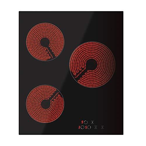 Simfer SMF-BIH 4501 Elektro-Kochfeld | Autarkes Glaskeramikkochfeld | 45 cm | Cerankochfeld - 3 Kochfelder | 9 Leistungsstufen | Touch-Bedienung | Restwärmeanzeige | Kindersicherung | Rahmenlos