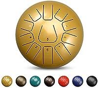 スチールタンドラム、 鋼製ドラム11注意事項機器12インチ舌ドラム、袋、袋、マレット、ハングパンドラム器具付きスチール舌ドラム ディッシュ形ドラム、ハンドドラム (Color : G)