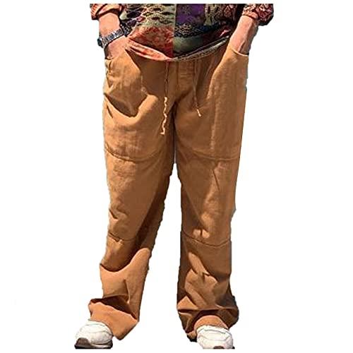 Dasongff Pantalon Large Homme Grande Taille- Pantalon Homme Cargo Pas Cher avec Poches- Droit Sport Longueur Pants- Sarouel Homme Musulman- Sarouel Homme Islam