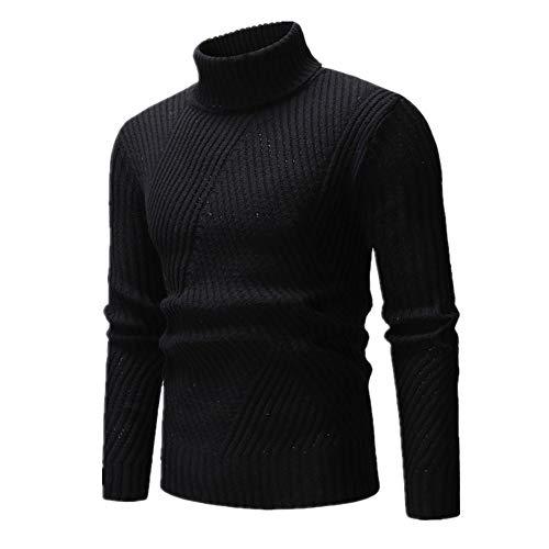 N\P Suéter Hombres Pullover Prendas De Punto De Cuello Alto Suéter Hombres Ropa